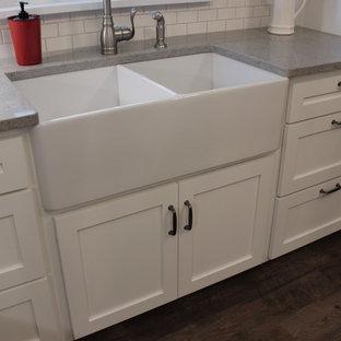 White and Gray Shaker Kitchen