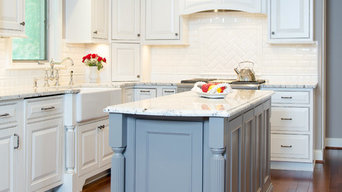 White and Gray Traditional Kitchen Remodel