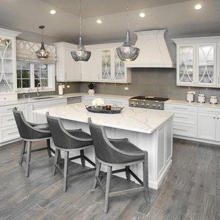 White and Grey Designer Kitchen