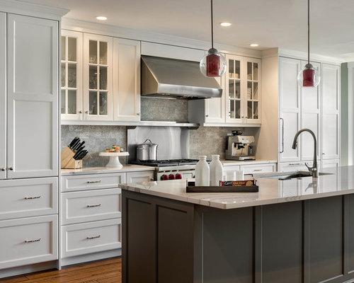zweizeilige k chen mit kalk r ckwand ideen design. Black Bedroom Furniture Sets. Home Design Ideas