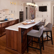 transitional kitchen by INVIEW Interior Design
