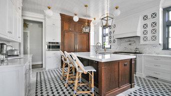 White and Walnut Luxury Kitchen