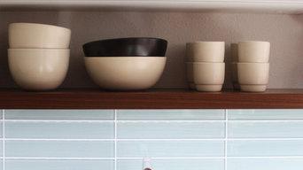 White and Walnut Minimalist Kitchen