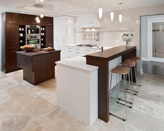 travertine flooring with white cabinets | houzz