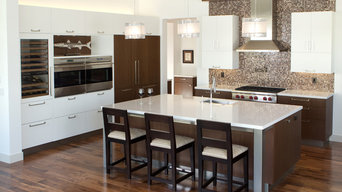 White and Wenge Kitchen