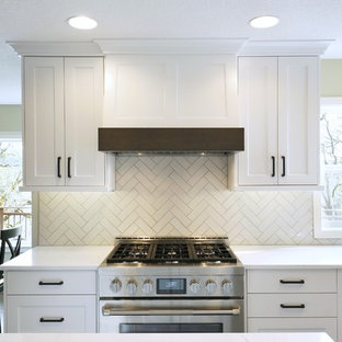 White and Wood Transitional Kitchen - Newberg