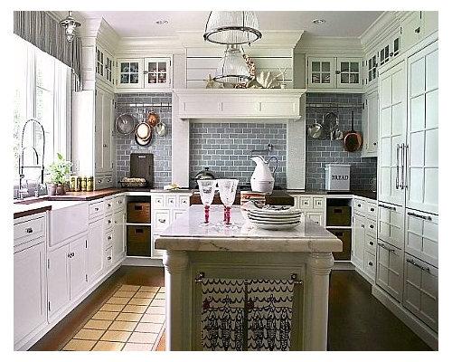 White And Blue Kitchen white and blue kitchen | houzz