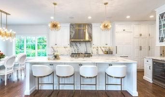 White + Brass Fashion-Forward Kitchen