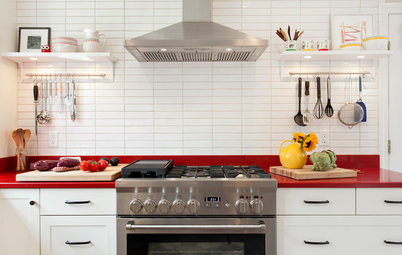 Kitchen of the Week: Red Energizes a Functional White Kitchen