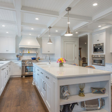 White Cape Cod Kitchen and Office in Boonton