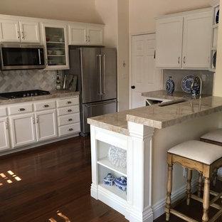 White Contemporary Farmhouse KItchen Update, Thousand Oaks, CA