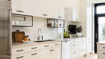 White Contemporary Kitchen by Sub- Zero Wolf