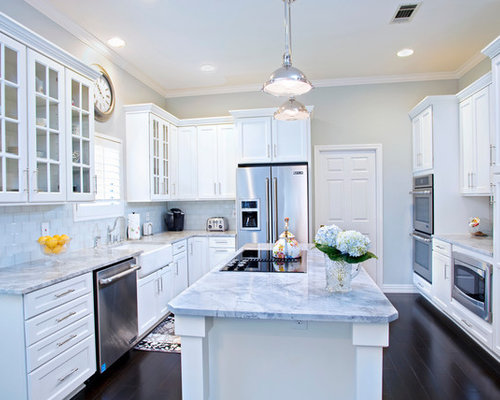 Carrera Marble Kitchen | Houzz