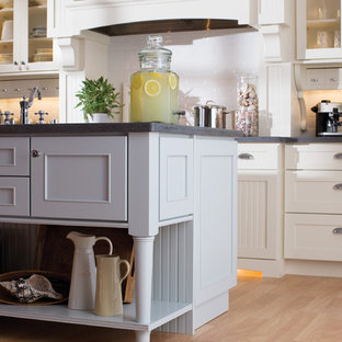 White Cottage Kitchen Houzz