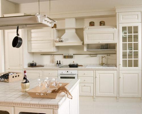 k chen mit arbeitsplatte aus fliesen und vinyl boden ideen. Black Bedroom Furniture Sets. Home Design Ideas