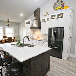 White Custom Kitchen with Walnut Accents, Jerome ID