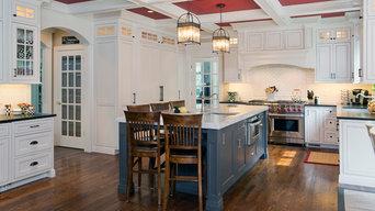 White Glazed Inset Kitchen with Beaded Frame
