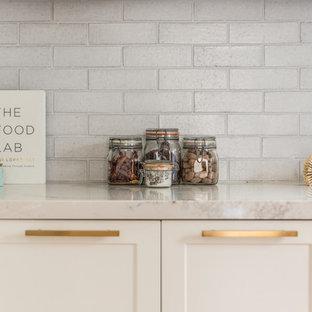 Clean Cottage Brick Kitchen