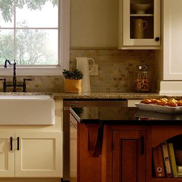 White Kitchen Cabinets | Maple Kitchen Cabinets | Rockford Door Style | Inset Ki