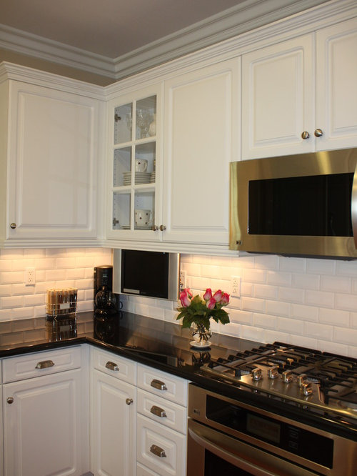 Beveled Subway Tile Backsplash | Houzz