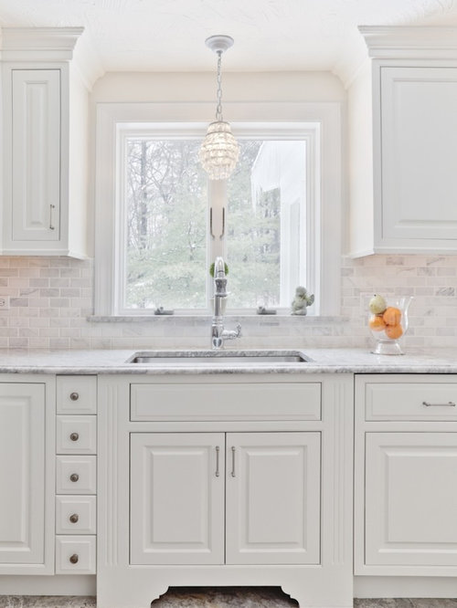 Carrara Marble Backsplash Houzz