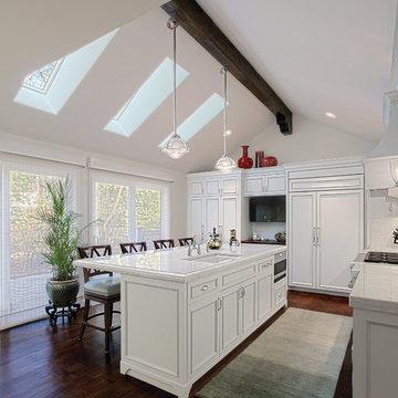 White Kitchen w Skylights