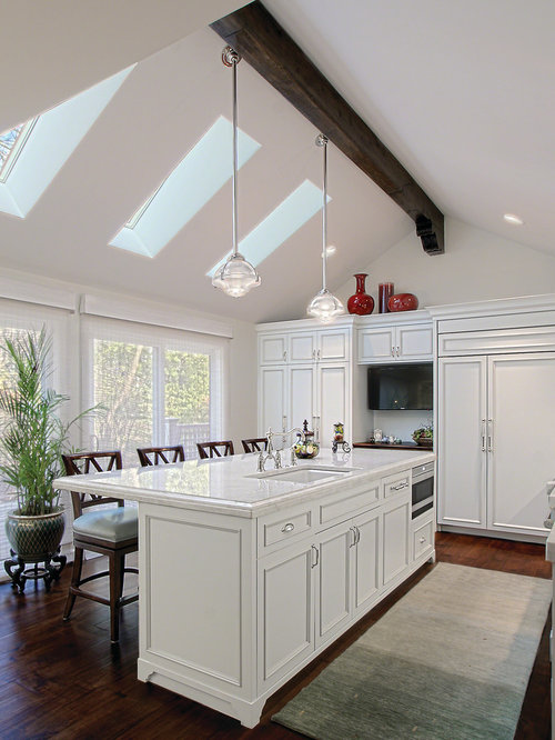 Cathedral Ceiling With Wood Beams Houzz