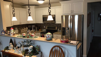 White kitchen with bar