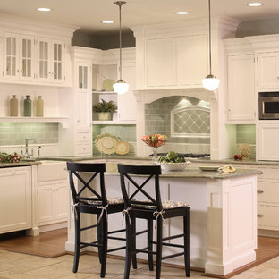 Green Backsplash Tile | Houzz