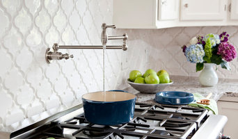 White Kitchen with Bianco Antico Granite, Beveled Arabesque tile