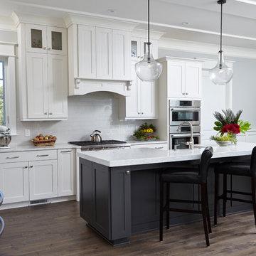 White Kitchen with Black Island, Wilmington NC