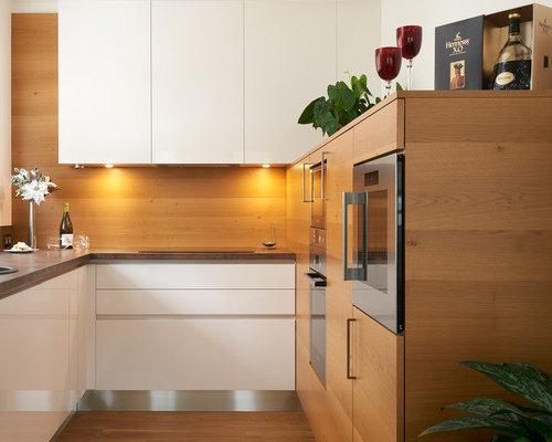 k chen mit brauner k chenr ckwand und laminat arbeitsplatte ideen bilder houzz. Black Bedroom Furniture Sets. Home Design Ideas