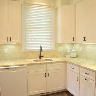 White kitchen with stylish backsplash!