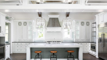 White kitchen with transoms