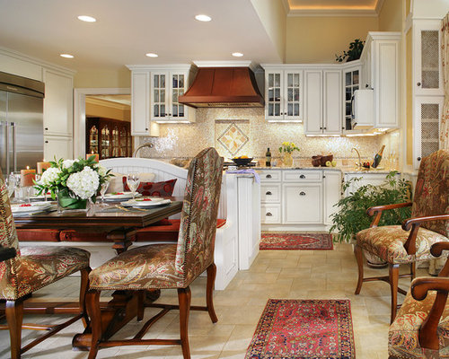 finished kitchen cabinets island banquette home design ideas pictures remodel and 15425