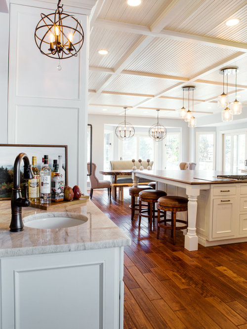 White Kitchen And Dining Room Renovation St Louis MO
