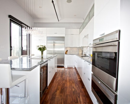 White Lacquer Kitchen Design Ideas Amp Remodel Pictures Houzz