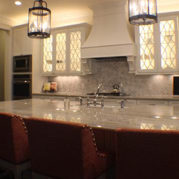 White Macaubas Quartzite Kitchen.
