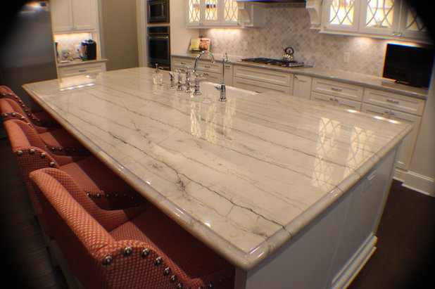 Contemporary Kitchen by Granite Division Inc.