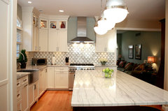 White Macaubas Quartzite Kitchen · More Info. ]