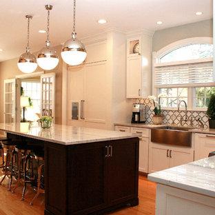 White Macaubas Quartzite Kitchen