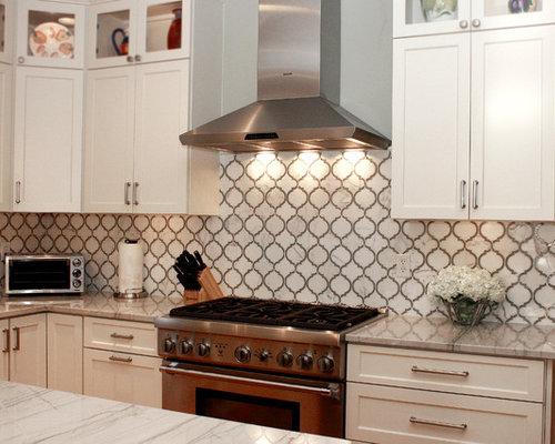 contemporary white macaubas quartzite kitchen