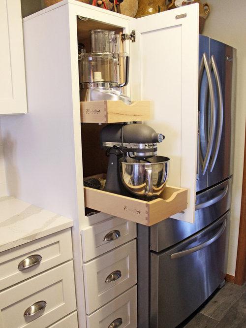 White Maple Kitchen with Quartz Countertops ~ Medina, OH on Maple Cabinets With White Countertops  id=65107