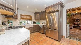 white marble countertop kitchen
