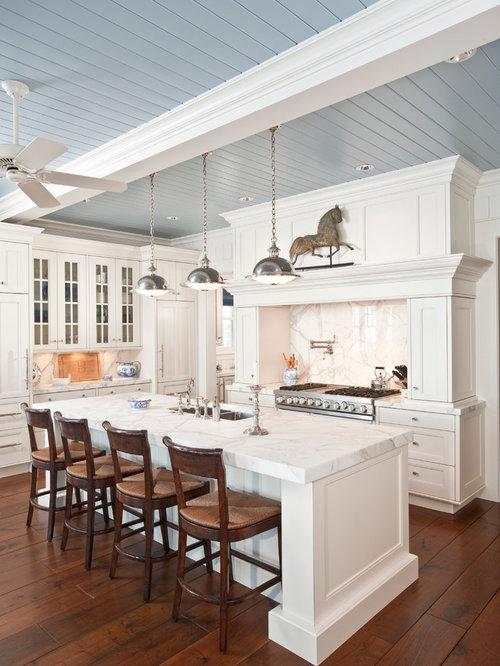 white marble kitchen houzz