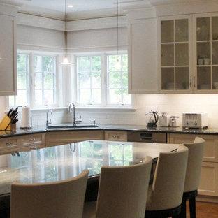 Traditional kitchen remodeling - Elegant kitchen photo in Boston