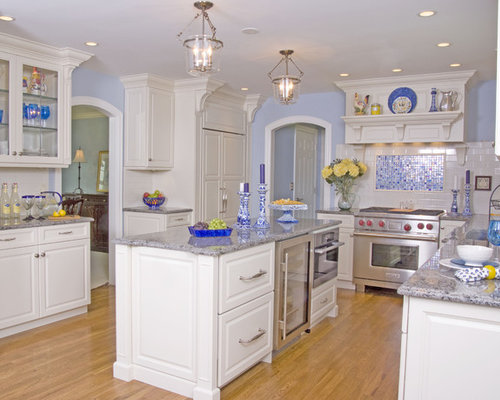 Save email - Light blue and white kitchen ...