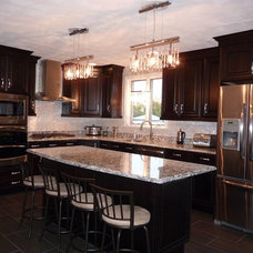 Eclectic Kitchen by Tile Circle