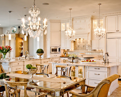 Cost To Remodel A Kitchen: White Ornate Traditional Kitchen Renovation St. Louis, MO