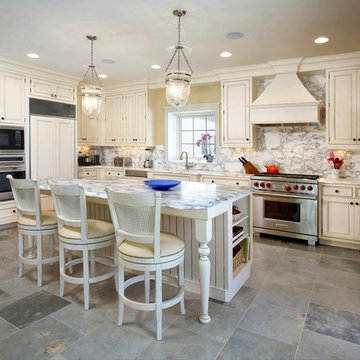 White Painted Inset Kitchen